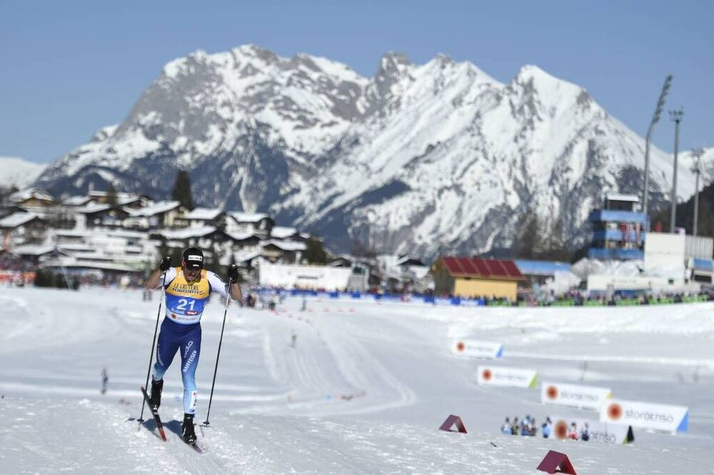 27.02.2019, Seefeld, Austria (AUT):Jonas Baumann (SUI) - FIS nordic world ski championships, cross-country, 15km men, Seefeld (AUT). www.nordicfocus.com. © THIBAUT/NordicFocus. Every downloaded picture is fee-liable.