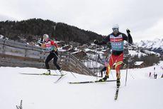 18.12.2019, Annecy-Le Grand Bornand, France (FRA):Darya Domracheva (BLR), Ole Einar Bjoerndalen (NOR), (l-r) -  IBU world cup biathlon, training, Annecy-Le Grand Bornand (FRA). www.nordicfocus.com. © Manzoni/NordicFocus. Every downloaded picture is fee-