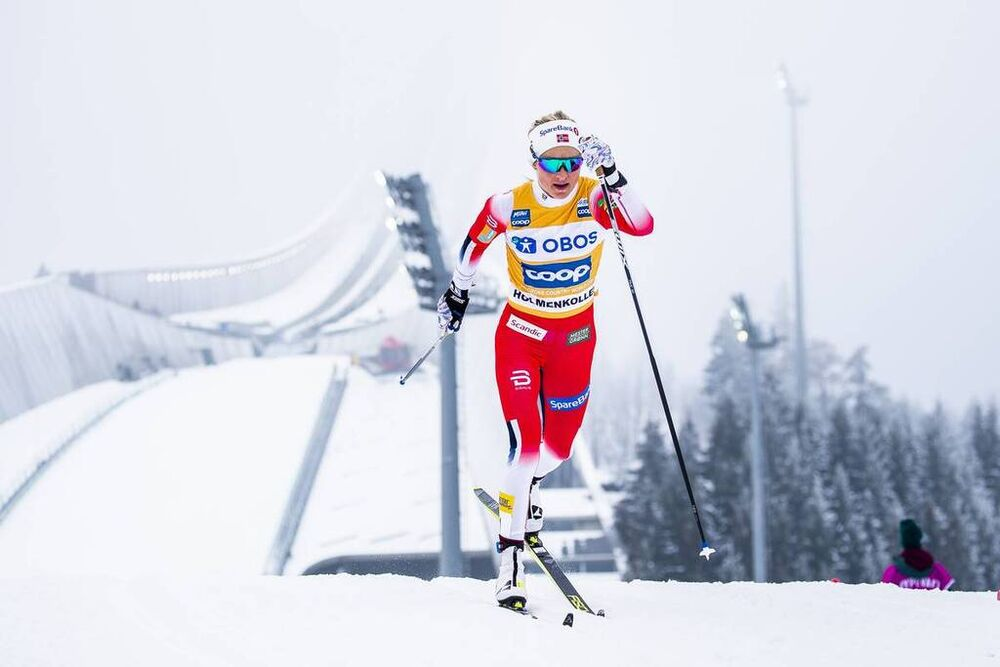 07.03.2020, Oslo, Norway (NOR):Therese Johaug (NOR) - FIS world cup cross-country, mass women, Oslo (NOR). www.nordicfocus.com. © Modica/NordicFocus. Every downloaded picture is fee-liable.