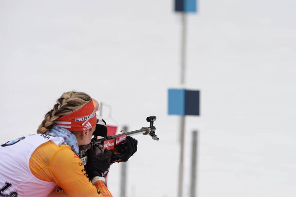 19.01.2020, Ruhpolding, Germany (GER):Denise Herrmann (GER) -  IBU world cup biathlon, pursuit women, Ruhpolding (GER). www.nordicfocus.com. © Tumashov/NordicFocus. Every downloaded picture is fee-liable.