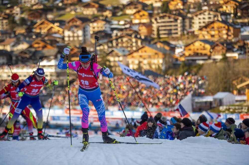 21.12.2019, Annecy-Le Grand Bornand, France (FRA):Larisa Kuklina (RUS) -  IBU world cup biathlon, pursuit women, Annecy-Le Grand Bornand (FRA). www.nordicfocus.com. © Thibaut/NordicFocus. Every downloaded picture is fee-liable.