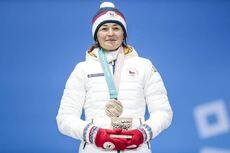 10.02.2018, Pyeongchang, Korea (KOR):Veronika Vitkova (CZE) - XXIII. Olympic Winter Games Pyeongchang 2018, biathlon, medals, Pyeongchang (KOR). www.nordicfocus.com. © Modica/NordicFocus. Every downloaded picture is fee-liable.