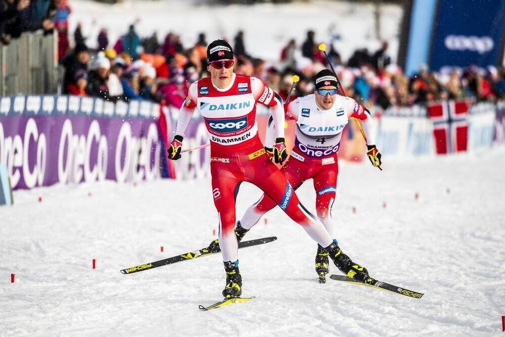 04.03.2020, Konnerud, Norway (NOR):Johannes Hoesflot Klaebo (NOR) - FIS world cup cross-country, individual sprint, Konnerud (NOR). www.nordicfocus.com. © Modica/NordicFocus. Every downloaded picture is fee-liable.