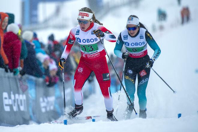 HELENE MARIE FOSSESHOLM är bara 18 år men går direkt in i det norska A-landslaget trots att förbundet bantar antalet åkare inför nästa säsong. Foto: NORDIC FOCUS