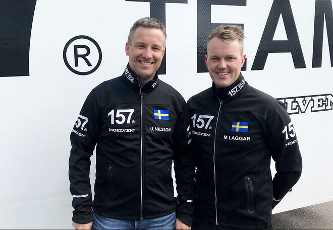 URBAN NILSSON (tv) är landslagets fd vallachef. Nu skall han jobba med Marcus Laggar i Lager 157 Ski Team i långloppscirkusen Visma Ski Classics. Foto: LAGER 157 SKI TEAM