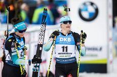 23.02.2020, Antholz, Italy (ITA):Justine Braisaz (FRA), Julia Simon (FRA), (l-r) - IBU world championships biathlon, mass women, Antholz (ITA). www.nordicfocus.com. © Modica/NordicFocus. Every downloaded picture is fee-liable.