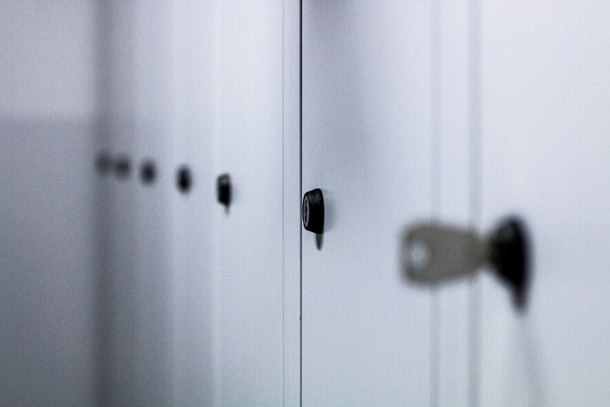Foto av nøkkel i et garderobeskap