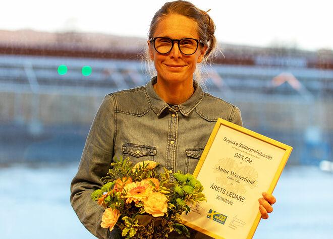 ANNA WESTERLUND från Tullus blev Årets ledare i skidskytteförbundet. Foto: SSSF