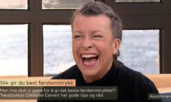 Christine Calvert var gjest i God Morgen Norge på TV2, der hun snakket om hvordan skape et godt førsteinntrykk.