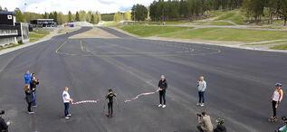FALUN 2020-05-18 Invigning nya asfaltbanan lugnet  falu kommunFoto: Ulf Palm  kod 71515