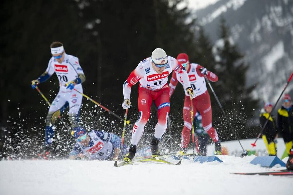 26.01.2020, Oberstdorf, Germany (GER):Sindre Bjoernestad Skar (NOR) - FIS world cup cross-country, individual sprint, Oberstdorf (GER). www.nordicfocus.com. © Thibaut/NordicFocus. Every downloaded picture is fee-liable.