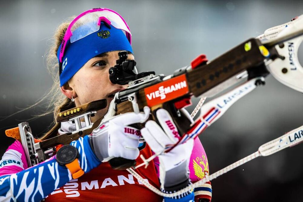 14.12.2019, Hochfilzen, Austria (AUT):Svetlana Mironova (RUS) - IBU world cup biathlon, relay women, Hochfilzen (AUT). www.nordicfocus.com. © Manzoni/NordicFocus. Every downloaded picture is fee-liable.