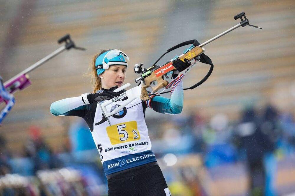 07.03.2020, Nove Mesto, Czech Republic (CZE):Chloe Chevalier (FRA) - IBU world cup biathlon, relay women, Nove Mesto (CZE). www.nordicfocus.com. © Manzoni/NordicFocus. Every downloaded picture is fee-liable.