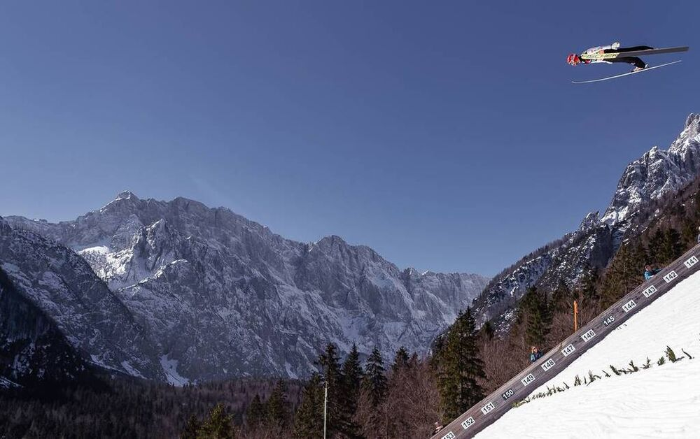 23.03.2019, Planica, Slovenia (SLO): Markus Eisenbichler (GER)- FIS world cup ski flying, team HS240, Planica (SLO). www.nordicfocus.com. © Nordicfocus/EXPA/JFK. Every downloaded picture is fee-liable.