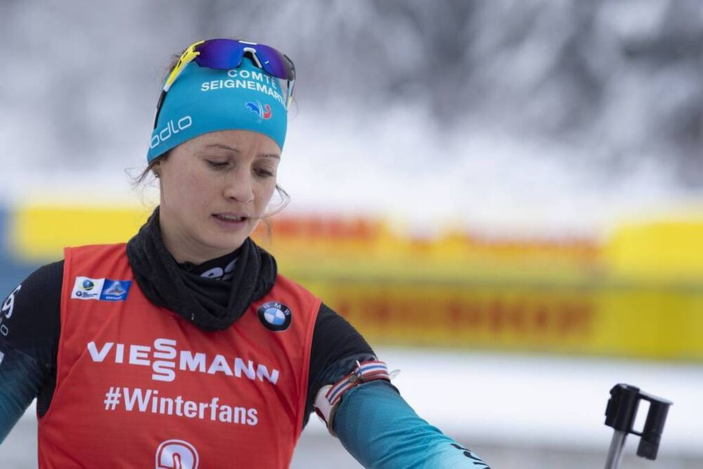 12.01.2019, Oberhof, Germany (GER):Anais Chevalier (FRA) -  IBU world cup biathlon, pursuit women, Oberhof (GER). www.nordicfocus.com. © Manzoni/NordicFocus. Every downloaded picture is fee-liable.