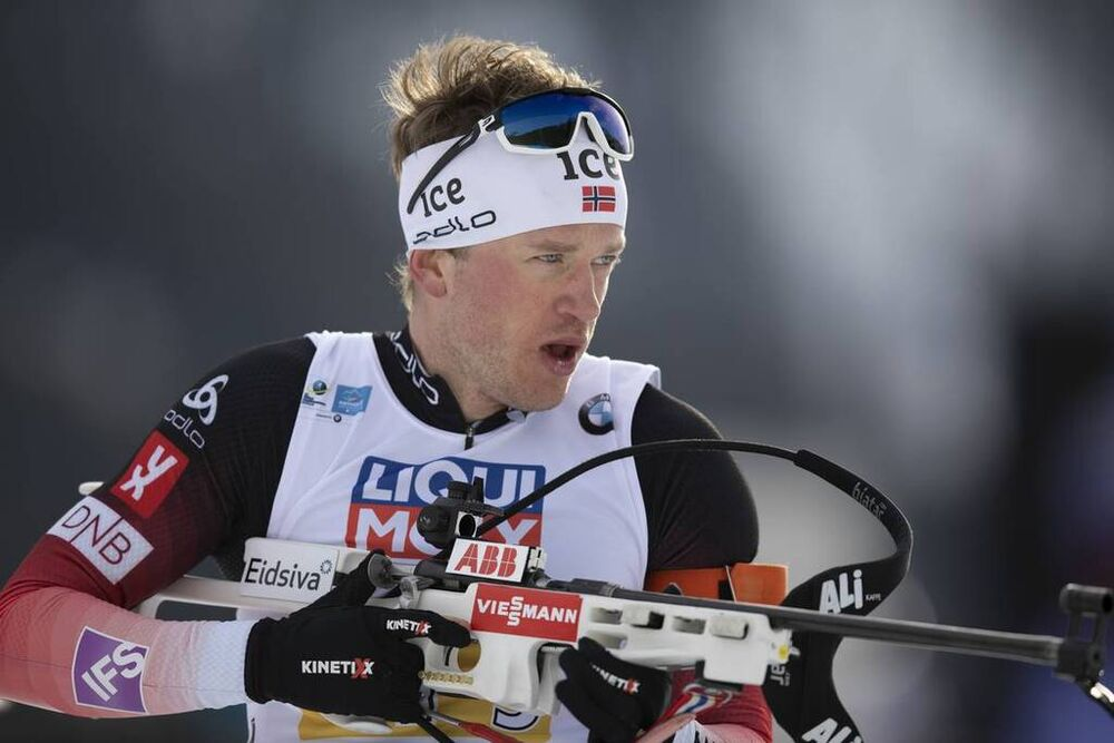 13.02.2020, Antholz, Italy (ITA):Tarjei Boe (NOR) - IBU World Championships Biathlon, relay mixed, Antholz (ITA). www.nordicfocus.com. © Manzoni/NordicFocus. Every downloaded picture is fee-liable.