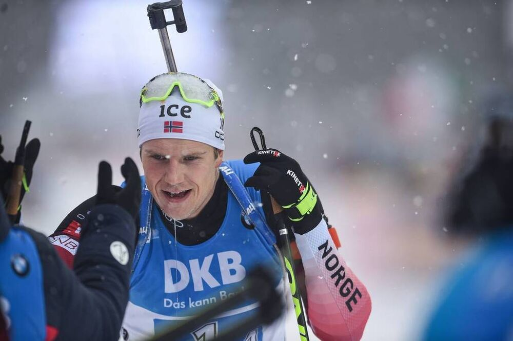 18.01.2020, Ruhpolding, Germany (GER):Vetle Sjaastad Christiansen (NOR) -  IBU world cup biathlon, relay men, Ruhpolding (GER). www.nordicfocus.com. ©Tumashov/NordicFocus. Every downloaded picture is fee-liable.