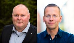 Are Tomasgard er LO-sekretær, Trygve Svensson er leder i Tankesmien Agenda. Foto: Trond Isaksen/Agenda