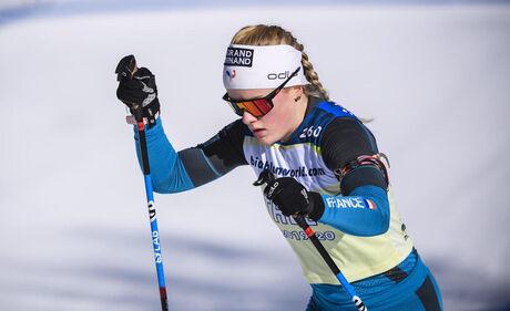 07.02.2020, xkvx, Biathlon IBU Cup Martell, Training Damen und Herren, v.l. Sophie Chauveau (France)  /