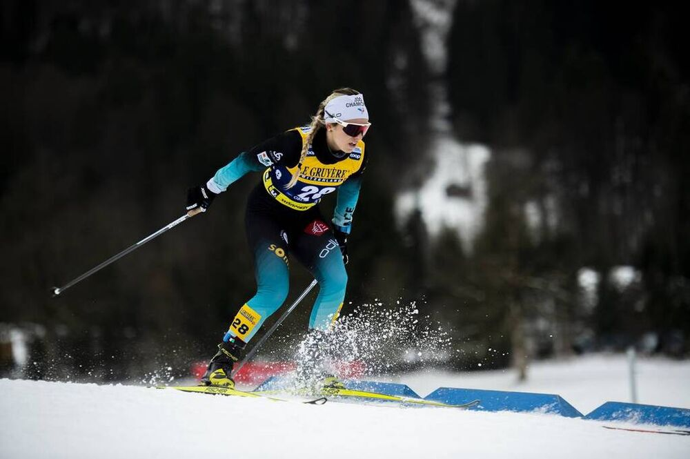 25.01.2020, Oberstdorf, Germany (GER):Coralie Bentz (FRA) - FIS world cup cross-country, skiathlon women, Oberstdorf (GER). www.nordicfocus.com. © Thibaut/NordicFocus. Every downloaded picture is fee-liable.
