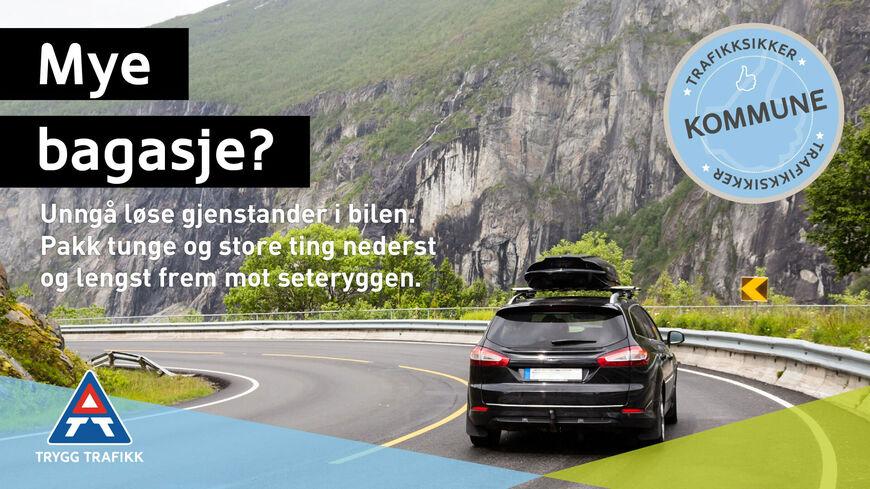 Pakk bilen riktig før du reiser på ferie