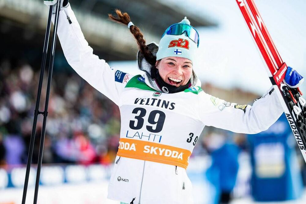 29.02.2020, Lahti Finland (FIN):Krista Parmakoski (FIN) - FIS world cup cross-country, 10km women, Lahti (FIN). www.nordicfocus.com. © Modica/NordicFocus. Every downloaded picture is fee-liable.