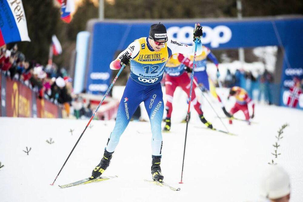 03.01.2020, Val di Fiemme, Italy (ITA):Dario Cologna (SUI) - FIS world cup cross-country, tour de ski, mass men, Val di Fiemme (ITA). www.nordicfocus.com. © Modica/NordicFocus. Every downloaded picture is fee-liable.