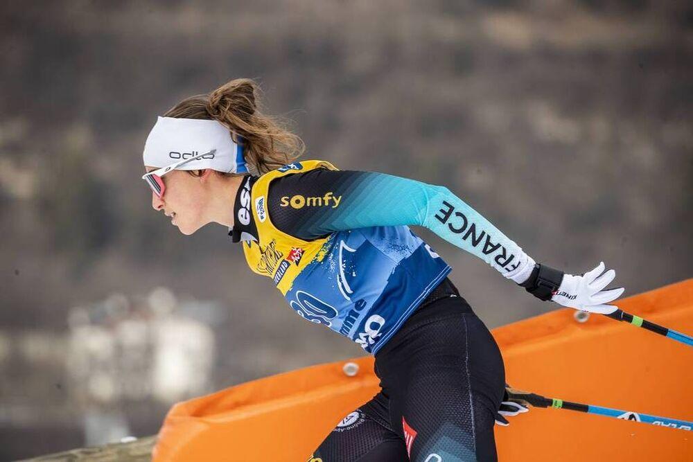 03.01.2020, Val di Fiemme, Italy (ITA):Delphine Claudel (FRA) - FIS world cup cross-country, tour de ski, mass women, Val di Fiemme (ITA). www.nordicfocus.com. © Modica/NordicFocus. Every downloaded picture is fee-liable.