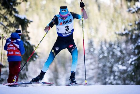 15.12.2019, Davos, Switzerland (SUI):Hugo Lapalus (FRA) - FIS world cup cross-country, 15km men, Davos (SUI). www.nordicfocus.com. © Modica/NordicFocus. Every downloaded picture is fee-liable.