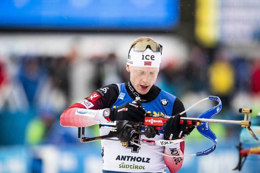 23.02.2020, Antholz, Italy (ITA):Johannes Thingnes Boe (NOR) - IBU world championships biathlon, mass men, Antholz (ITA). www.nordicfocus.com. © Modica/NordicFocus. Every downloaded picture is fee-liable.