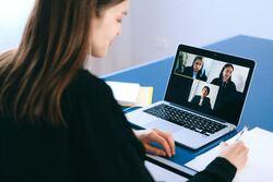 Skypemøte stock