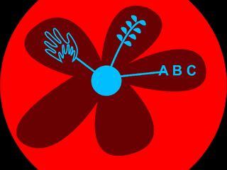 Logo kun blomst