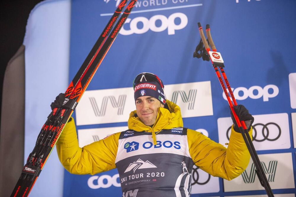 18.02.2020, Are, Sweden (SWE):Federico Pellegrino (ITA) - FIS world cup cross-country, individual sprint, Are (SWE). www.nordicfocus.com. © Thibaut/NordicFocus. Every downloaded picture is fee-liable.