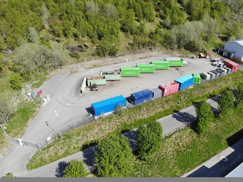 Kvæfjord Miljøstasjon dronebilde