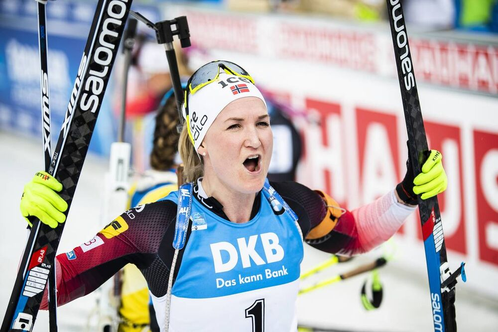 23.02.2020, Antholz, Italy (ITA):Marte Olsbu Roeiseland (NOR) - IBU world championships biathlon, mass women, Antholz (ITA). www.nordicfocus.com. © Modica/NordicFocus. Every downloaded picture is fee-liable.