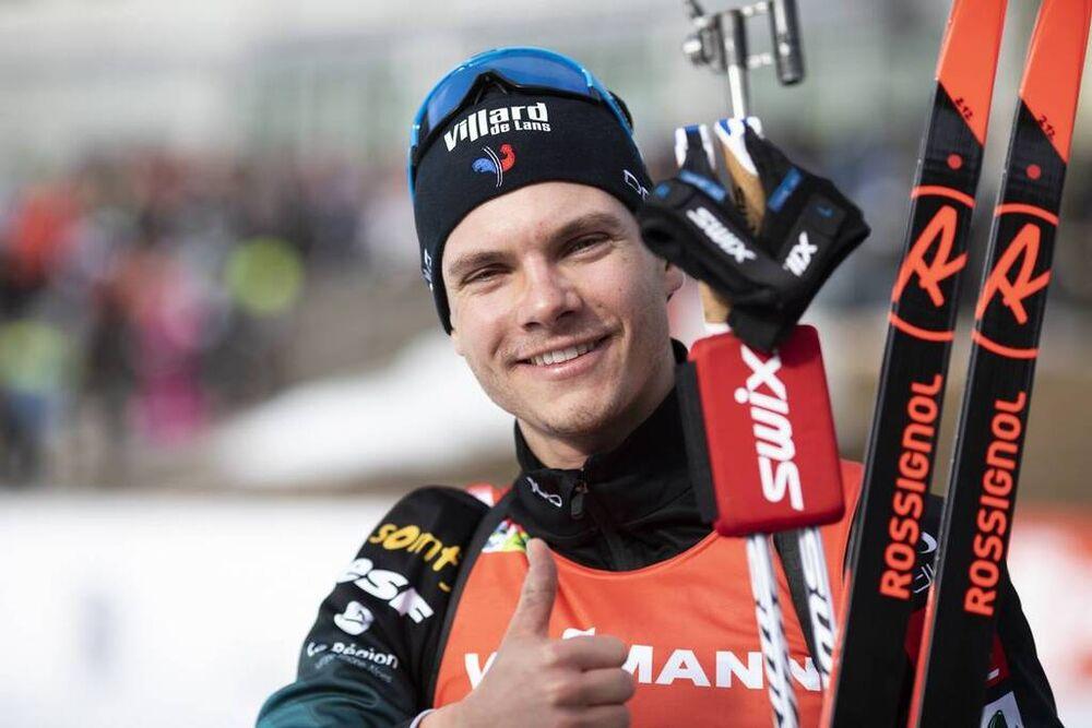 25.01.2020, Pokljuka, Slovenia (SLO):Emilien Jacquelin (FRA) -  IBU world cup biathlon, single mixed relay, Pokljuka (SLO). www.nordicfocus.com. © Manzoni/NordicFocus. Every downloaded picture is fee-liable.