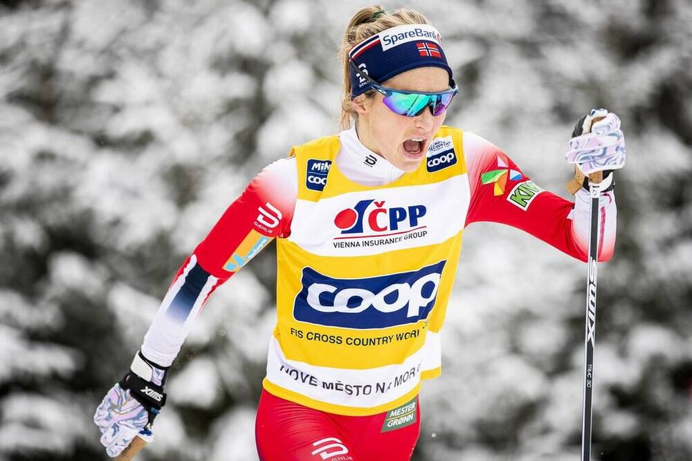 19.01.2020, Nove Mesto, Czech Republic (CZE):Therese Johaug (NOR) - FIS world cup cross-country, pursuit women, Nove Mesto (CZE). www.nordicfocus.com. © Modica/NordicFocus. Every downloaded picture is fee-liable.