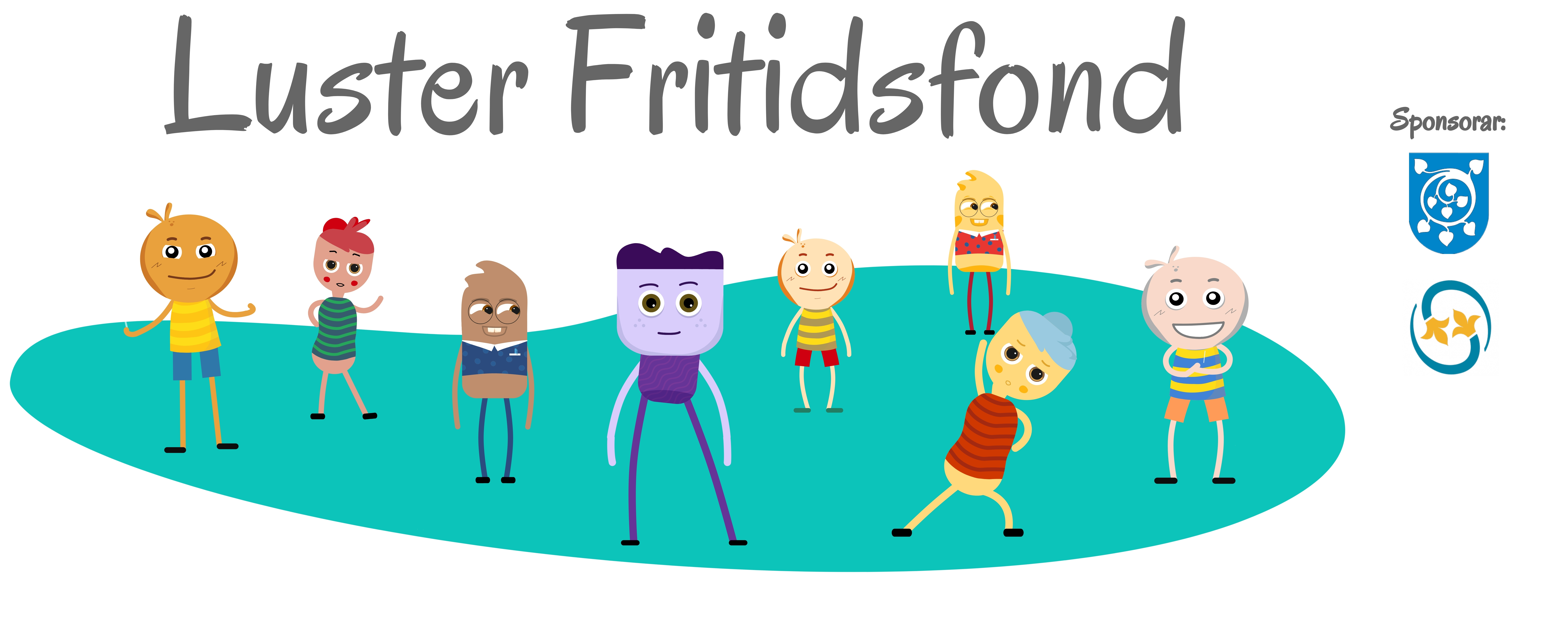 Luster fritidsfond logo m sponsorar