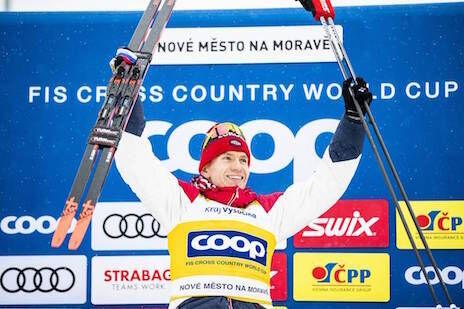 19.01.2020, Nove Mesto, Czech Republic (CZE):Alexander Bolshunov (RUS) - FIS world cup cross-country, pursuit men, Nove Mesto (CZE). www.nordicfocus.com. © Modica/NordicFocus. Every downloaded picture is fee-liable.