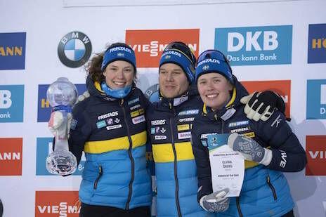 14.03.2020, Kontiolahti, Finland (FIN):Hanna Oeberg (SWE), Elvira Oeberg (SWE), (l-r) -  IBU World Cup Biathlon, cups, Kontiolahti (FIN). www.nordicfocus.com. © Manzoni/NordicFocus. Every downloaded picture is fee-liable.