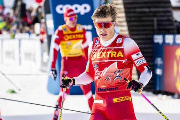04.01.2020, Val di Fiemme, Italy (ITA):Johannes Hoesflot Klaebo (NOR) - FIS world cup cross-country, tour de ski, individual sprint, Val di Fiemme (ITA). www.nordicfocus.com. © Modica/NordicFocus. Every downloaded picture is fee-liable.