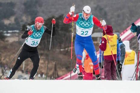 11.02.2018, Pyeongchang, Korea (KOR):Martin Jaks (CZE), Jonas Dobler (GER), (l-r)  - XXIII. Olympic Winter Games Pyeongchang 2018, cross-country, skiathlon men, Pyeongchang (KOR). www.nordicfocus.com. © Modica/NordicFocus. Every downloaded picture is fe