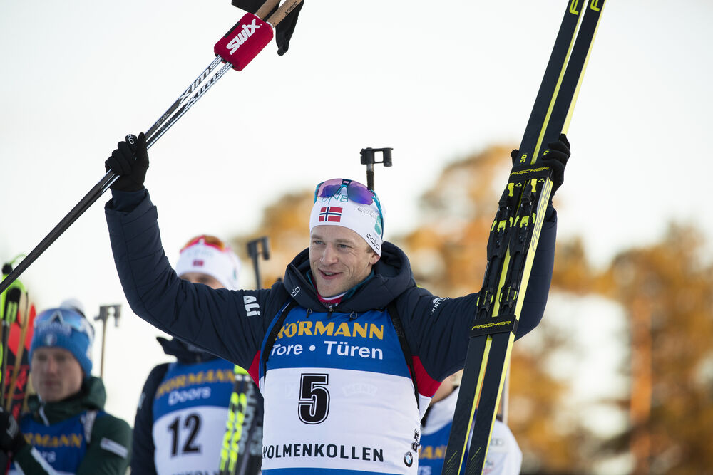 23.03.2019, Oslo, Norway (NOR):Tarjei Boe (NOR) - IBU world cup biathlon, pursuit men, Oslo (NOR). www.nordicfocus.com. © Manzoni/NordicFocus. Every downloaded picture is fee-liable.