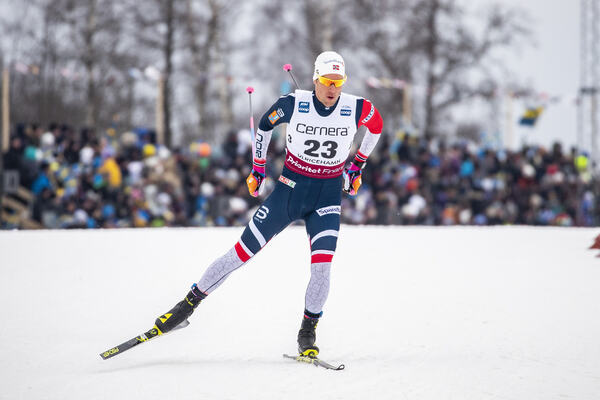 26.01.2019, Ulricehamn, Sweden (SWE):Chris Andre Jespersen (NOR) - FIS world cup cross-country, 15km men, Ulricehamn (SWE). www.nordicfocus.com. © Modica/NordicFocus. Every downloaded picture is fee-liable.
