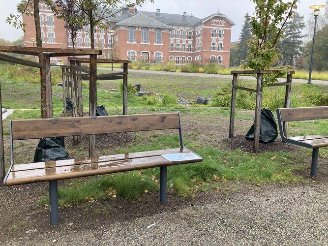 NMBU, baksiden av Urbygningen med utsikt over veterinærhøyskolen