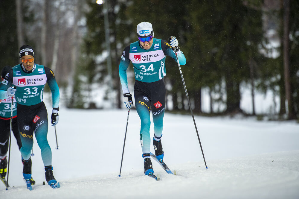 16.02.2020, Oestersund, Sweden (SWE):Maurice Manificat (FRA) - FIS world cup cross-country, pursuit men, Oestersund (SWE). www.nordicfocus.com. © THIBAUT/NordicFocus. Every downloaded picture is fee-liable.