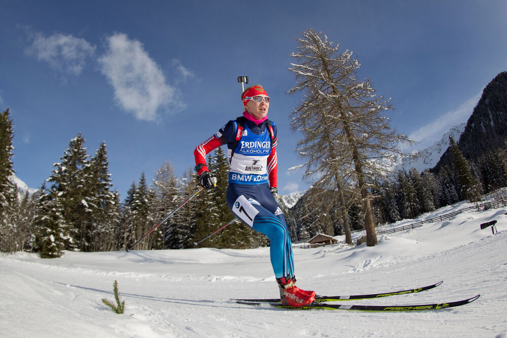 23.01.2015, Antholz, Italy (ITA): Ekaterina Glazyrina (RUS)- IBU world cup biathlon, sprint women, Antholz (ITA). www.nordicfocus.com. © Manzoni/NordicFocus. Every downloaded picture is fee-liable.