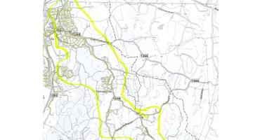 Kart deler av  Ås_
