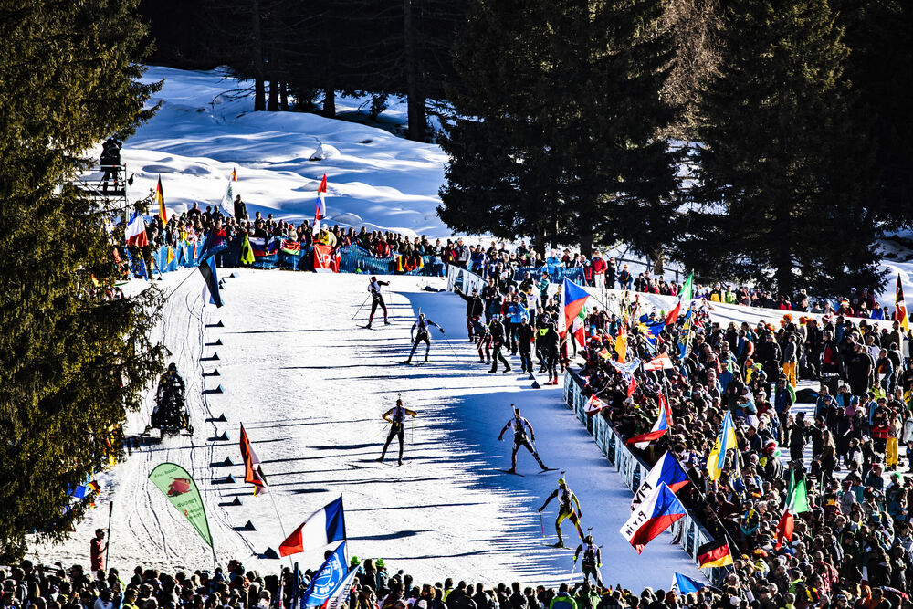 22.02.2020, Antholz, Italy (ITA):Event Feature: undefined athletes compete on Huber Alm - IBU world championships biathlon, relay men, Antholz (ITA). www.nordicfocus.com. © Manzoni/NordicFocus. Every downloaded picture is fee-liable.