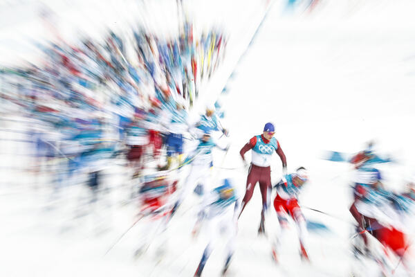 24.02.2018, Pyeongchang, Korea (KOR): Start of the race  - XXIII. Olympic Winter Games Pyeongchang 2018, cross-country, mass men,  Pyeongchang (KOR). www.nordicfocus.com. © Modica/NordicFocus. Every downloaded picture is fee-liable.
